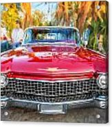 1960 Cadillac Eldorado Biarritz Convertible Painted  Acrylic Print