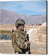 A Coalition Force Member Maintains Acrylic Print