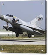 A Qatar Emiri Air Force Mirage Acrylic Print