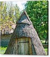 A Typical Ukrainian Antique Hut Acrylic Print