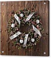 Advent Christmas Wreath Decoration Acrylic Print