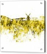 Amsterdam Skyline In Watercolor On White Background Acrylic Print