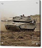 An Israel Defense Force Merkava Mark Iv Acrylic Print