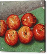 6 Apples Washed And Waiting Acrylic Print