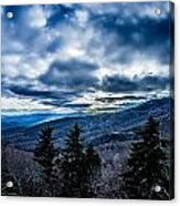 Blue Ridge Parkway Winter Scenes In February Acrylic Print