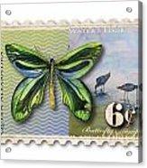6 Cent Butterfly Stamp Acrylic Print by Amy Kirkpatrick