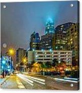 Charlotte City Skyline  Acrylic Print