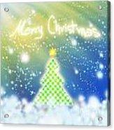 Chess Style Christmas Tree Acrylic Print