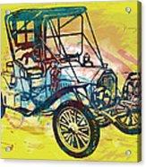 Classical Car Stylized Pop Art Poster Acrylic Print