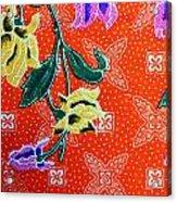 Colorful Batik Cloth Fabric Background  Acrylic Print