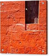Colorful Old Architecture Details Acrylic Print