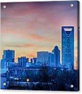Early Morning Sunrise Over Charlotte City Skyline Downtown Acrylic Print
