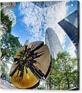 Financial Skyscraper Buildings In Charlotte North Carolina Usa Acrylic Print