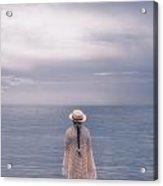 Girl At The Sea Acrylic Print
