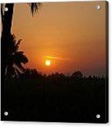 Hampi Sunset Acrylic Print