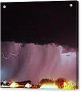 Late Evening Nebraska Thunderstorm Acrylic Print