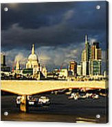 London  Skyline Waterloo  Bridge Acrylic Print