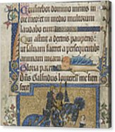 Luttrell Psalter Acrylic Print
