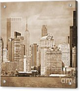 Manhattan Buildings Vintage Acrylic Print