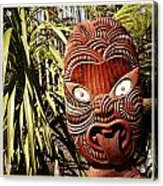 Maori Carving Acrylic Print by Les Cunliffe