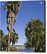 Melbourne Causeway To Indialantic In Central Florida From Geiger Acrylic Print