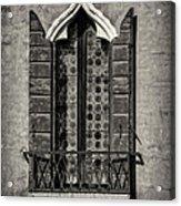 Old World Window Acrylic Print