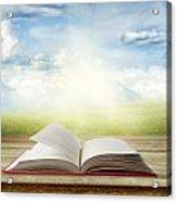 Open Book Acrylic Print