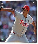 Philadelphia Phillies V Colorado Rockies Acrylic Print