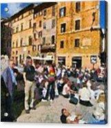 Piazza Della Rotonda In Rome Acrylic Print