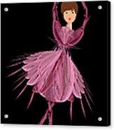 6 Pink Ballerina Acrylic Print