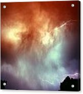 Rounds 2 3 Late Night Nebraska Storms Acrylic Print