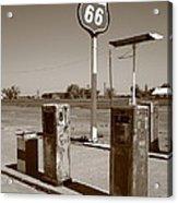 Route 66 Gas Pumps Acrylic Print