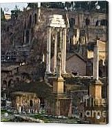 Ruins In The Roman Forum Rome Italy Acrylic Print