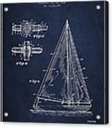 Sailboat Patent Drawing From 1938 Acrylic Print