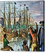 The Boston Tea Party, 1773 Acrylic Print by Granger