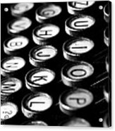 Typewriter Keys Acrylic Print by Falko Follert