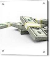 Us Dollar Notes Acrylic Print