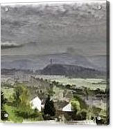 View Of Wallace Monument And Surrounding Areas Acrylic Print