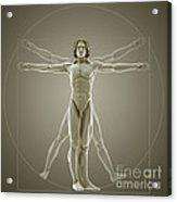 Vitruvian Man Acrylic Print
