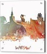 Warsaw City Skyline Acrylic Print