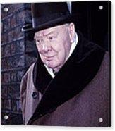 Winston Churchill Acrylic Print