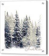 Winter Wonderland. Elegant Knickknacks From Jennyrainbow Acrylic Print by Jenny Rainbow