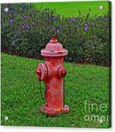 62- Puppy Garden Acrylic Print