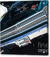 65 Plymouth Satellite Grill-8481 Acrylic Print