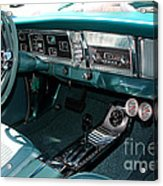 65 Plymouth Satellite Interior-8499 Acrylic Print