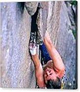 Rock Climber Acrylic Print