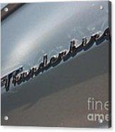 65 T-bird Emblem-7876 Acrylic Print