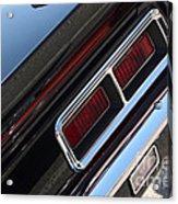 67 Black Camaro Ss Tail Light-8020 Acrylic Print