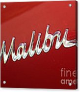 67 Malibu Chevelle Logo -0058 Acrylic Print