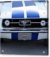 67 Mustang Grill Acrylic Print